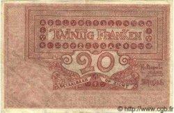 20 Francs BELGIQUE  1919 P.003A TTB