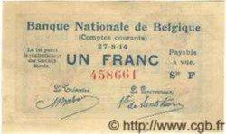 1 Franc BELGIQUE  1914 P.081 SUP+