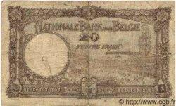 20 Francs BELGIQUE  1922 P.094 B à TB