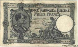 1000 Francs BELGIQUE  1926 P.096 TB+