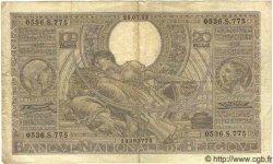 100 Francs - 20 Belgas BELGIQUE  1933 P.107 B à TB