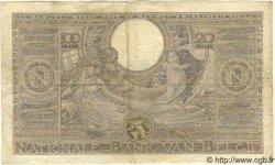100 Francs= 20 Belgas BELGIQUE  1933 P.036 B à TB