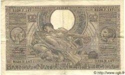 100 Francs= 20 Belgas BELGIQUE  1937 P.036 TTB