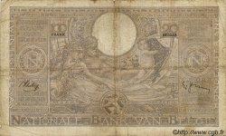 100 Francs= 20 Belgas BELGIQUE  1937 P.036 B à TB