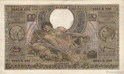 100 Francs= 20 Belgas BELGIQUE  1938 P.107 TTB