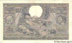 100 Francs= 20 Belgas BELGIQUE  1942 P.036 SUP