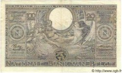 100 Francs - 20 Belgas BELGIQUE  1943 P.107 TTB+