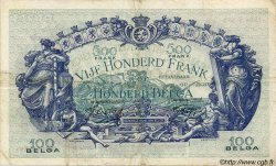 500 Francs= 100 Belgas BELGIQUE  1941 P.041 TTB