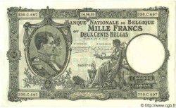 1000 Francs= 200 Belgas BELGIQUE  1932 P.042 TTB+