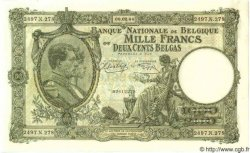 1000 Francs= 200 Belgas BELGIQUE  1944 P.110 pr.NEUF