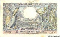 10000 Francs - 2000 Belgas BELGIQUE  1942 P.105 SUP