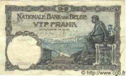 5 Francs surchargé sur le P.28 BELGIQUE  1931 P.046 TTB