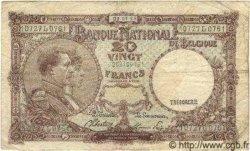 5 Francs surchargé sur le P.29 BELGIQUE  1945 P.049 TB