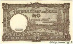 5 Francs surchargé sur le P.29 BELGIQUE  1947 P.049 SUP+