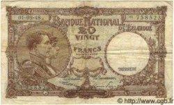 20 Francs BELGIQUE  1948 P.116 TB+
