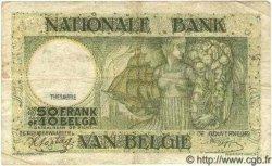 5 Francs surchargé sur le P.34 BELGIQUE  1942 P.050 TB