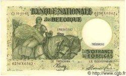 5 Francs surchargé sur le P.34 BELGIQUE  1945 P.050 pr.NEUF