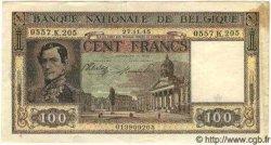 100 Francs BELGIQUE  1945 P.126 TTB