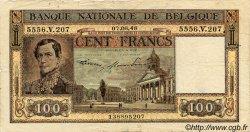 100 Francs BELGIQUE  1947 P.056 TB à TTB