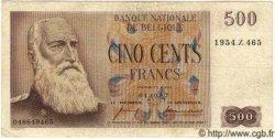 500 Francs Type Centenaire BELGIQUE  1957 P.060 TTB
