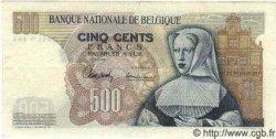 500 Francs BELGIQUE  1963 P.061 TTB+ à SUP