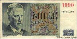 1000 Francs BELGIQUE  1958 P.131 TTB