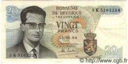 20 Francs BELGIQUE  1964 P.138 TTB+