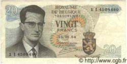 20 Francs BELGIQUE  1964 P.067 TTB+
