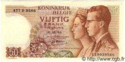 50 Francs BELGIQUE  1966 P.069 TTB+