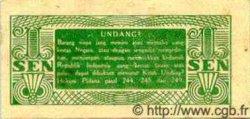 1 Sen INDONÉSIE  1945 P.013 pr.NEUF