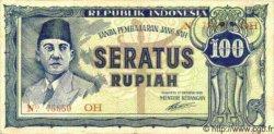100 Rupiah INDONÉSIE  1945 P.020 TTB