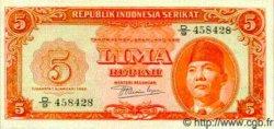 5 Rupiah INDONÉSIE  1950 P.036 NEUF