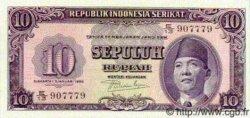 10 Rupiah INDONÉSIE  1950 P.037 pr.NEUF