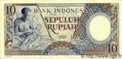 10 Rupiah INDONÉSIE  1958 P.056 pr.NEUF