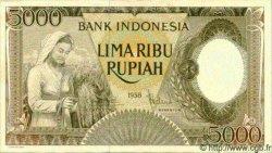 5000 Rupiah INDONÉSIE  1958 P.063 SPL
