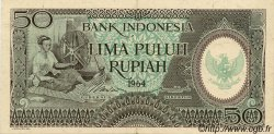 50 Rupiah INDONÉSIE  1964 P.096 pr.SUP