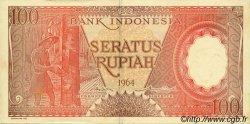 100 Rupiah INDONÉSIE  1964 P.097b TTB+