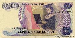 10000 Rupiah INDONÉSIE  1985 P.126 TTB+