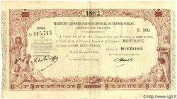500 Francs MARTINIQUE  1882 P.-- SUP