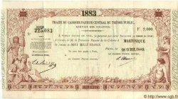 2000 Francs MARTINIQUE  1883 P.-- SUP+