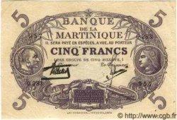 """5 Francs  Cabasson """"violet"""" MARTINIQUE  1934 P.06 TTB"""