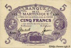"5 Francs  Cabasson ""violet"" MARTINIQUE  1945 P.06 SUP"