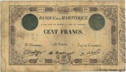 100 Francs MARTINIQUE  1922 P.08 B+ à TB