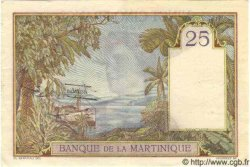 25 Francs MARTINIQUE  1938 P.12 SUP+ à SPL