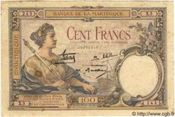 100 Francs MARTINIQUE  1933 P.13 TTB