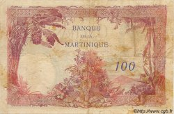 100 Francs MARTINIQUE  1945 P.13 TB