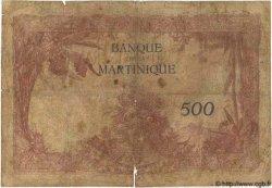 500 Francs MARTINIQUE  1945 P.14 B+