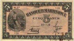 5 Francs Type 1942 MARTINIQUE  1942 P.16b TTB