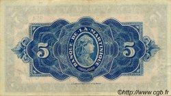 5 Francs Type 1942 MARTINIQUE  1944 P.16b TTB+ à SUP