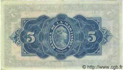 5 Francs MARTINIQUE  1942 P.16b SPL